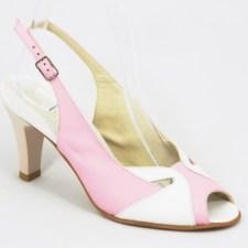 Sandale dama piele roz toc 8