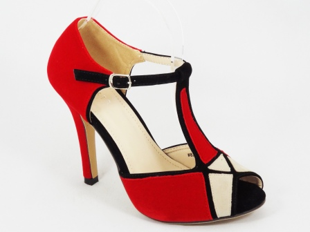 Sandale dama rosii toc 10 cm Lucky