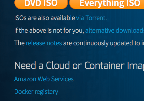 CentOS Webサイトの中段にrelease notesへのリンクがあります