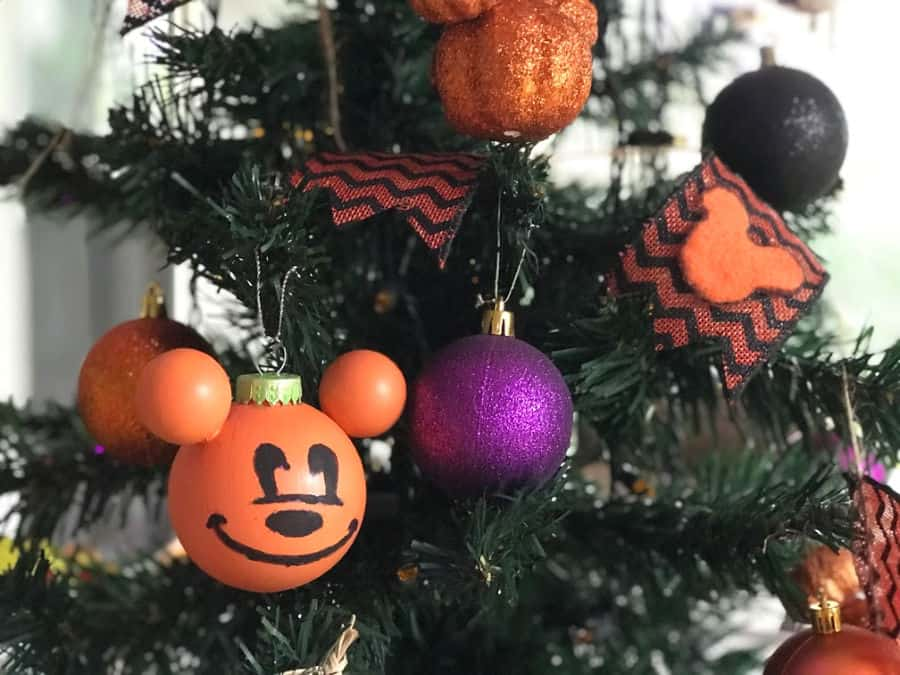 Diy Disney Halloween Ornaments Mickey Jack O Lantern Sand And Snow