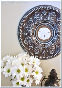 Ceiling Medallion Wall Art - Sand and Sisal