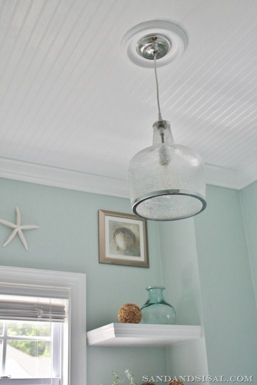 Installing Bead Board Ceiling  Sand and Sisal