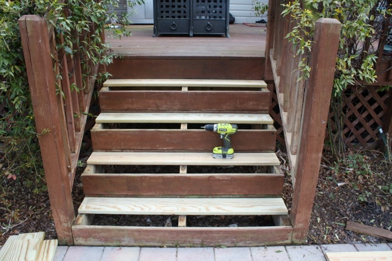 A Girlfriend S Guide To Deck Repair Sand And Sisal | Pressure Treated Stair Treads | Wide | 3 Ft | Picture Frame | Glue Block | Deck