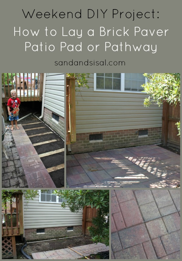 How to Lay a Brick Paver Patio or Path  Sand and Sisal