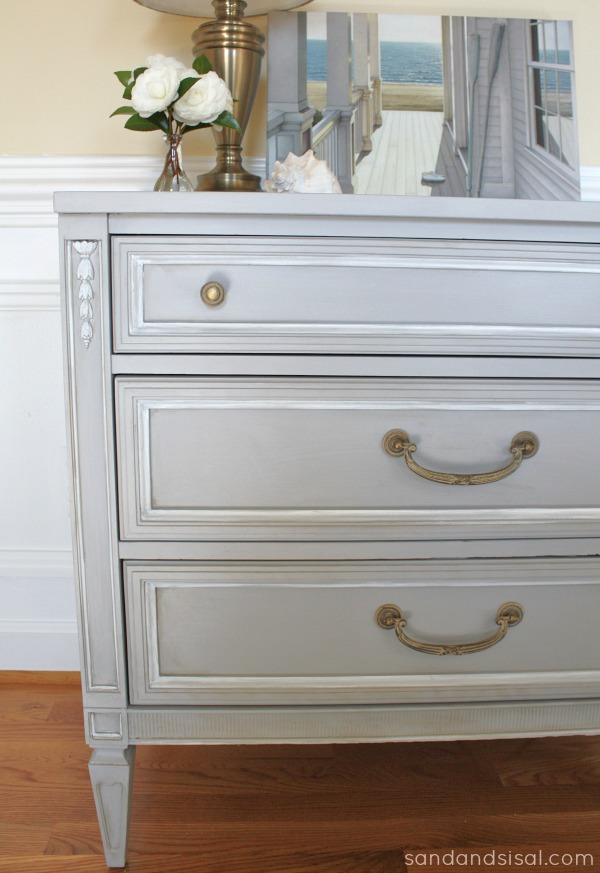 Chalk Paint Dresser Makeover Part 1  Sand and Sisal
