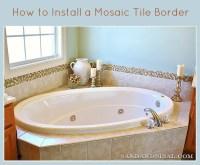 Add a Glass & Stone Tile Border - Sand and Sisal