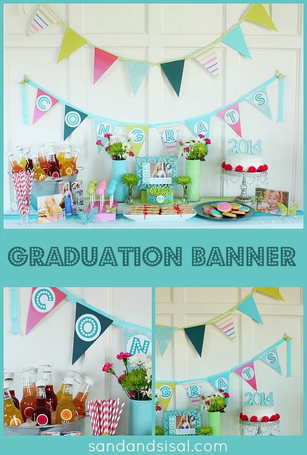 diy graduation banner sand
