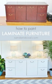 How to Paint Laminate Furniture - Sand and Sisal