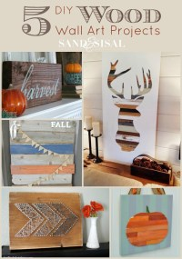 DIY Wood Wall Art Projects - Sand and Sisal