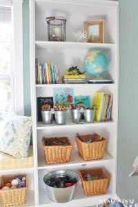 Playroom Storage Ideas- Decorating Built Ins