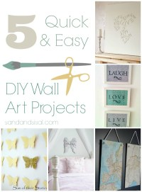 5 Quick & Easy Wall Art Projects - Sand and Sisal
