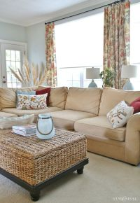 Hi-Tech Family Room Window Treatments - Sand and Sisal