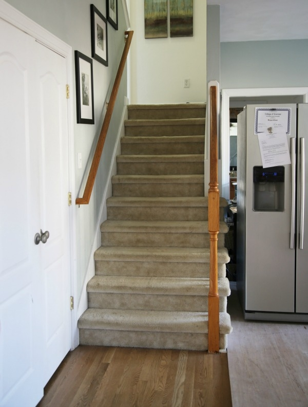 Painted Staircase Makeover With Seagrass Stair Runner | Carpet For Stairs Near Me | Hardwood | Wood | Wall Carpet | Carpet Workroom | Runner
