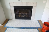 How to Install a Marble Herringbone Fireplace Surround and ...
