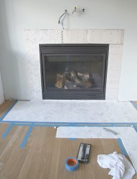 "Fireplace Grout. Changing The ""Grout"" Color On The ..."