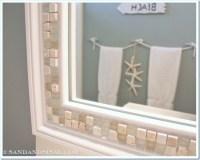 Tiled Framed Bathroom Mirrors