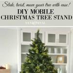 Diy Mobile Christmas Tree Stand Sand And Sisal