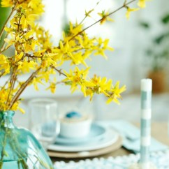 Target Dining Room Chairs White Faux Leather Aqua And Yellow Coastal Easter Tablescape - Sand Sisal