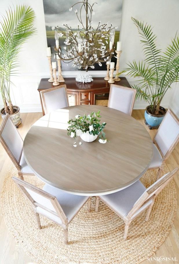 Driftwood Refinished Veneer Tabletop