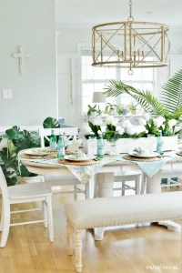 Easter Bunny Napkin Fold and Table Setting Idea - Sand and ...