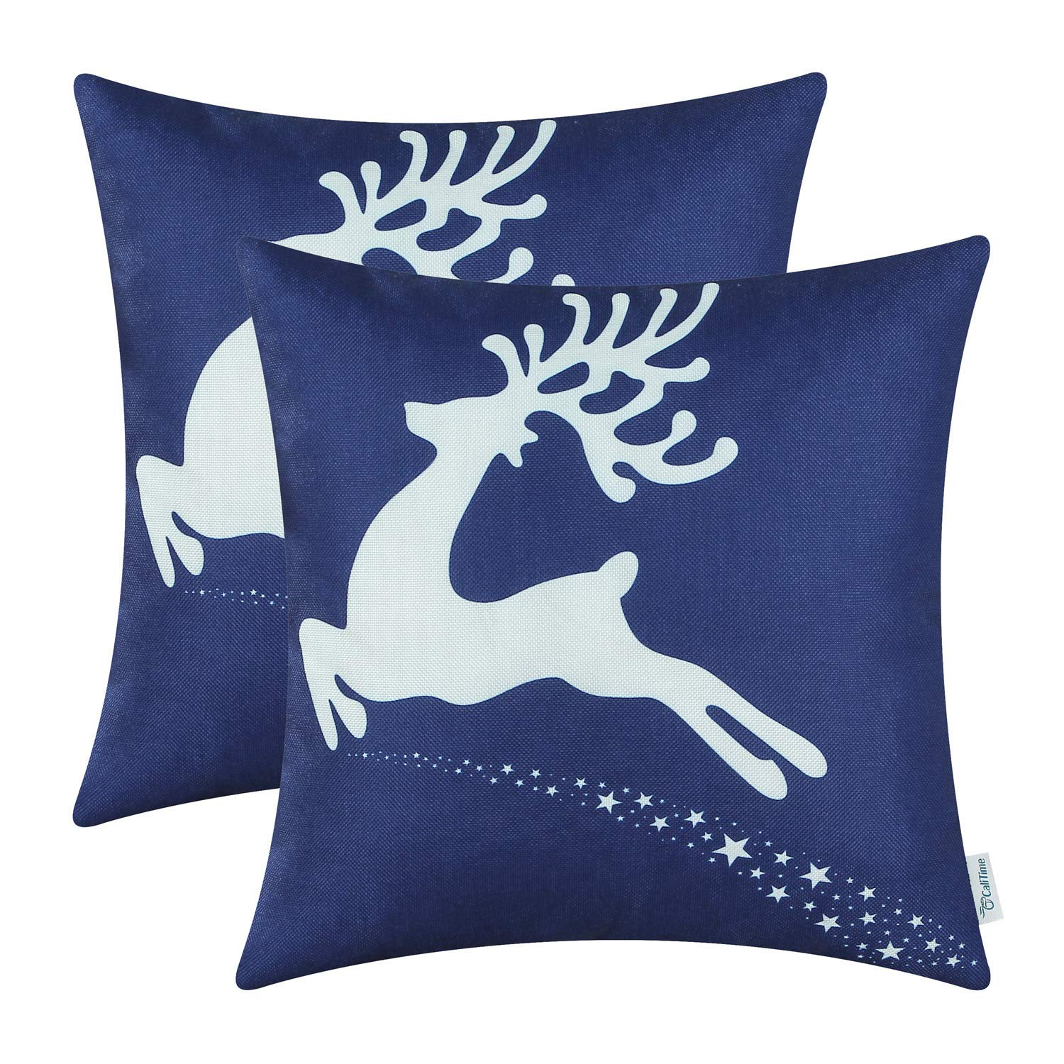 white christmas pillow covers