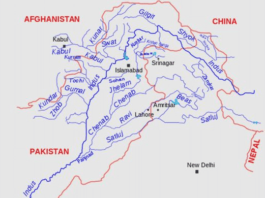 Image result for indus river system
