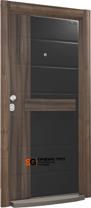 Италиански стил SM01 Black Matt PVC / Natural Walnut