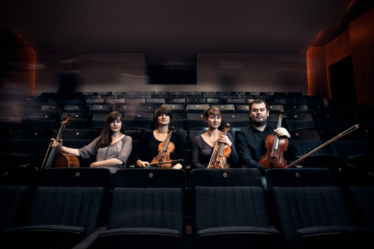 Promotional photos and website for Sandcastle string quartet