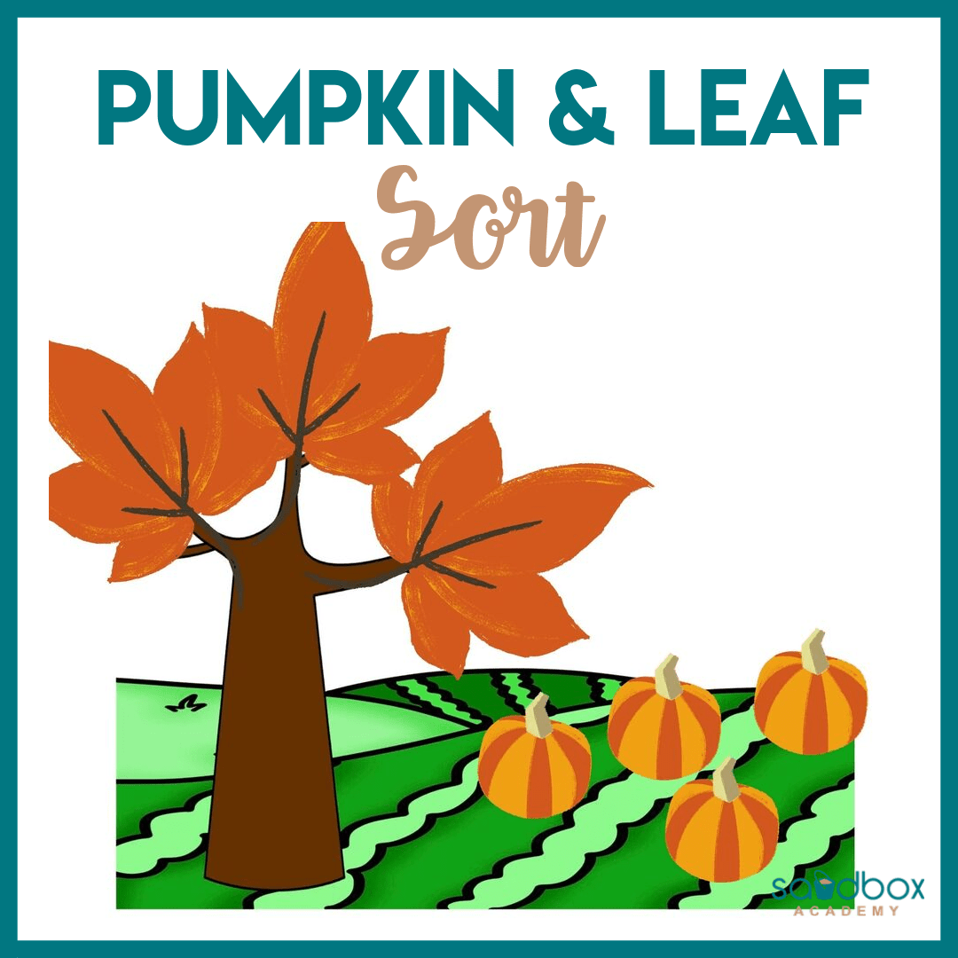 Pumpkin And Leaf Sorting Fall Preschool Activity