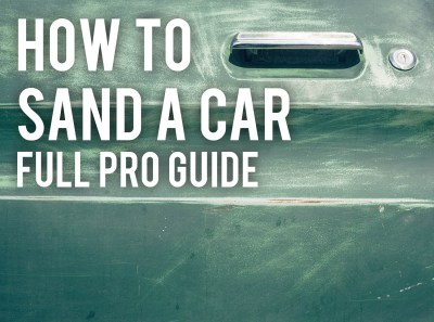 how to sand a car