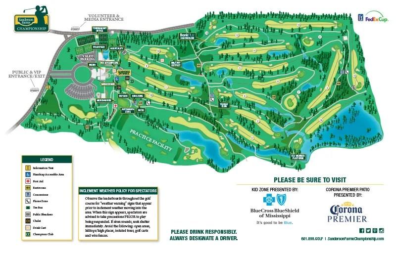Sanderson Farms Championship 2018 Course Map