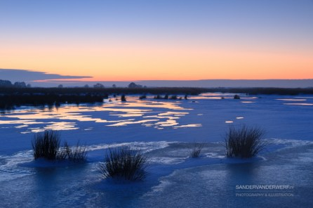 Winter sunset in the Onlanden