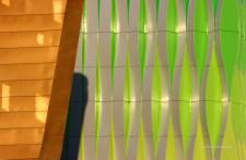 sun on the walls of UMCG lab.