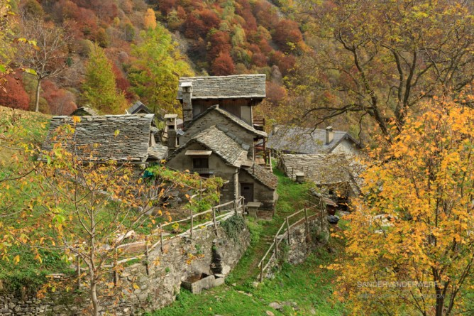 Old houses in Val Grande, Italy.