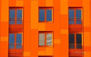 Architecture: orange facade/