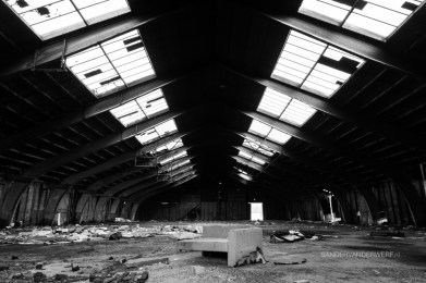 Junk in an abandoned warehouse.