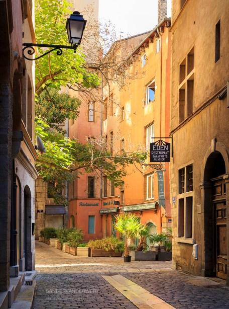 Old street in Vieux-Lyon.