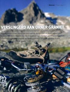 Bergen Magazine, article 'Verslingerd aan Urner graniet'.