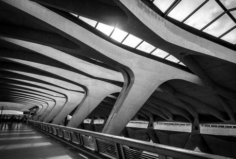 TGV terminal of Lyon Saint Exupery airport train station.
