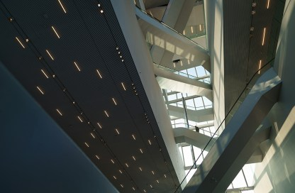 The new Forum building, a landmark, in the city of Groningen.