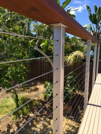 Stainless Steel Cable Railing Posts (Powder Coated) - San ...