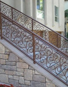 Stair railing installation also staircase railings decorative wrought iron san diego ca rh sandiegocustomirongates
