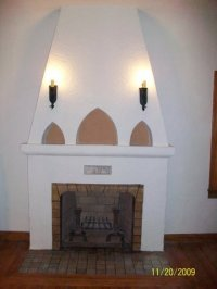 √ Stucco Over Brick Fireplace | Stucco and Plaster Fireplace Photos