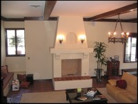Stucco and Plaster Fireplace Photos in San Diego - Custom ...