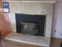 Black Marble Tile Fireplace