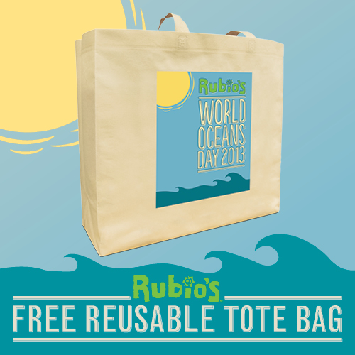 Rubios Tote Bag Giveaway Celebrating World Ocean's Day!