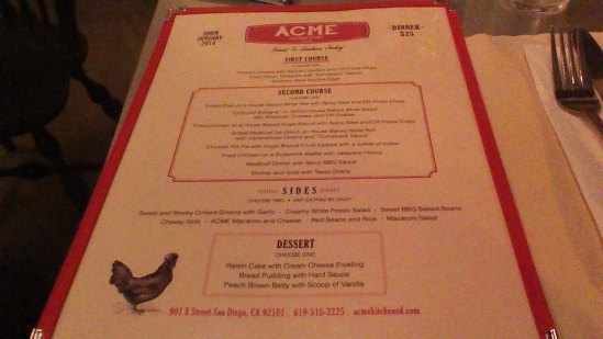 Acme Southern Kitchen (East Village) – Restaurant Week Dinner