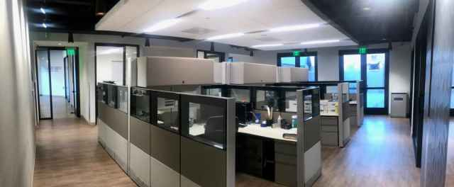 Commercial Movers office cubicles
