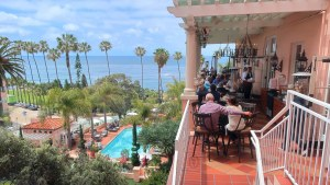 The Med is a luxurious seaside restaurant with views of the ocean. Located inside the La Valencia Hotel in La Jolla, CA.