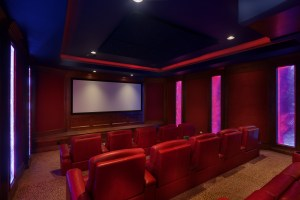 Movie night home theater
